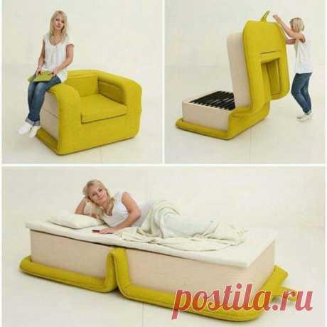 Стильное кресло-кровать Модная одежда и дизайн интерьера своими руками