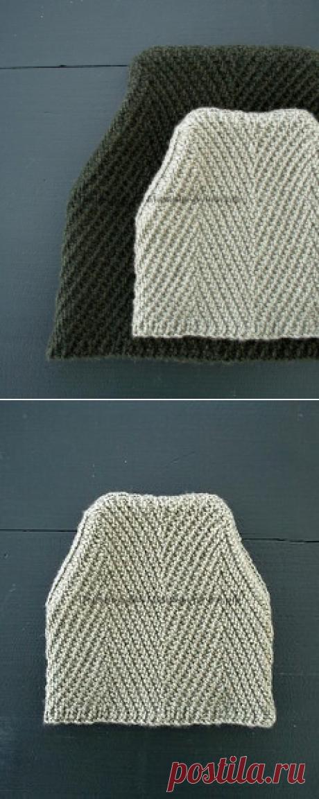 Вязаная спицами шапка Ёлочка. Описание вязания на русском - Мамины ручки