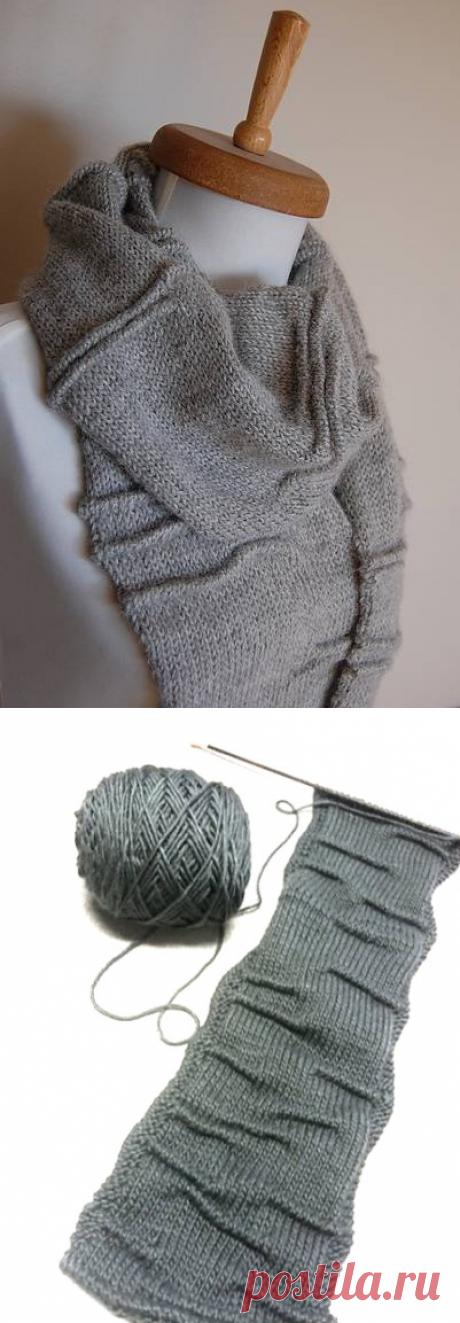 Оригинальный вязаный шарф | ДОМОСЕДКА