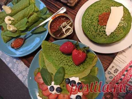 Супер-зеленые блины без яиц на аквофабе | Рекомендательная система Пульс Mail.ru