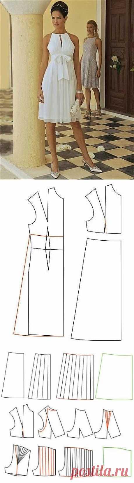 Шьем платье к лету. Выкройка | Умелые ручки