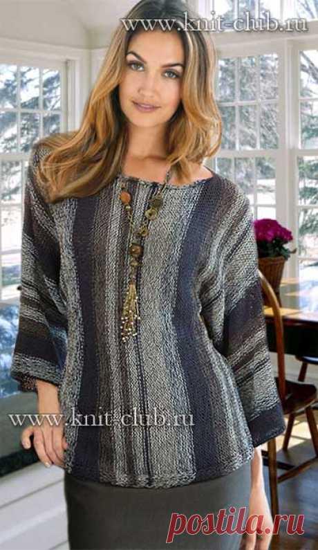 Модная модель пуловера для женщин - вязание спицами 2016