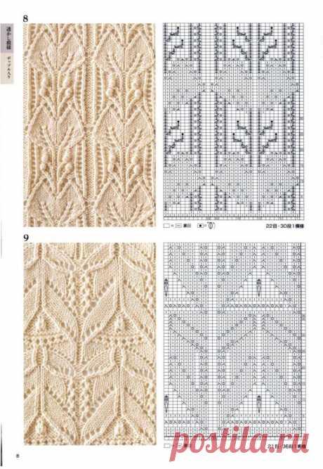 Узоры спицами схемы и описание (УЗОРЫ СПИЦАМИ) — Журнал Вдохновение Рукодельницы
