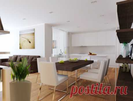 Студия «на пятачке», или 5 способов разместить кухню и гостиную в одной комнате   Мой дом