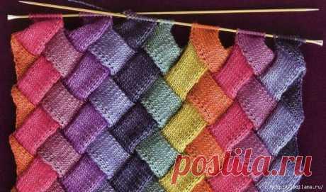 Техника плетёного вязания - энтрелак