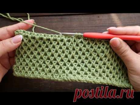 «Ажурные Соты» крючком 🐝 «Lace Honeycomb» crochet tutorial