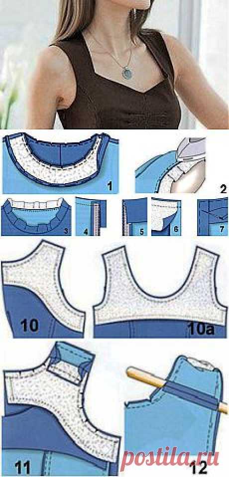 Советы по обработке пройм и горловины, уроки шитья, секреты опытных портных   Советы модницам