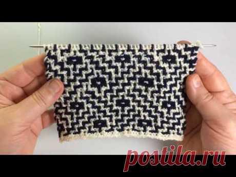 Абстрактный узор / Мозаичная техника / Вязание спицами