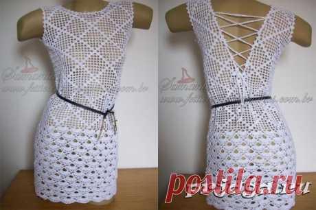 Женское летнее платье крючком от Samanta