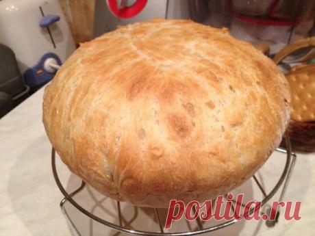 У меня нет хлебопечки, но я пеку фантастический хлеб в кастрюле в течение получаса, с хрустящей корочкой, и мягкой серединой | Женская история | Яндекс Дзен
