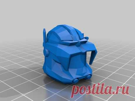 """Clone Wars Cody Helmet V1 by Jace1969 An old file from my Pepakura making days that I discovered in Pepakura Designer you can export to .OBJ and in """"Windows 10 3DBuilder or 123Design"""" export to .STL. Unfortunately I don't have the skills yet to improve further on the model, but maybe someone out there would like to tidy it up. Please upload it back as a remix if you do take the time to clean it up. Please note this was originally uploaded to the net as a free down load. So..."""