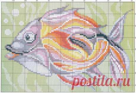 Схемы вышивки: рыбка, панда и сурикаты