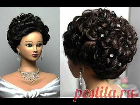 Wedding hairstyles for long hair. Вечерняя  на длинные волосы. - YouTube