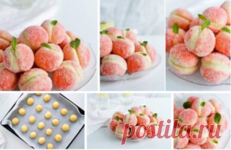 Пирожное «Персики» с нежнейшей начинкой Маскарпоне! Даже можно тем, кто худеет! То, что нужно для выходных!