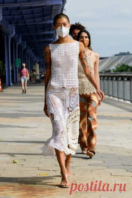 Мы с вами сможем это повторить- люксовые вещи от Chanel, Valentino, Dior, свяжем и вышьем сами! | СТИЛЬ МОДА ТРЕНДЫ | Яндекс Дзен