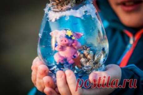 Мастерим снежный шар со свинкой. | Живые вещи | Яндекс Дзен
