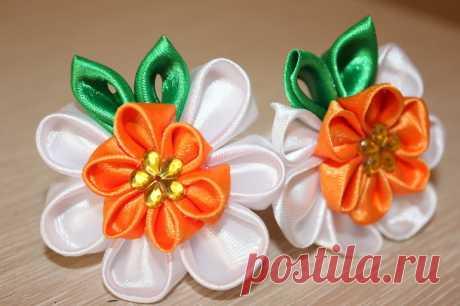 5 самых простых цветков, которые можно сделать из лент: изготовление поделок своими руками