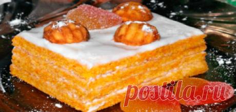 Вкусный морковный торт со сметанным кремом Просто и быстро