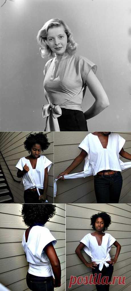 Ретро блузка с ооочень простой выкройкой / Простые выкройки / Модный сайт о стильной переделке одежды и интерьера