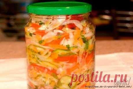 La ensalada de hortalizas para el invierno