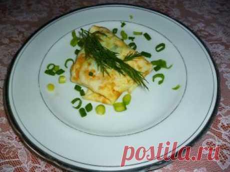 Яичные блинчики с охотничьими колбасками и сыром Как приготовить яичные блинчики с начинкой? Пошаговый рецепт с фото.