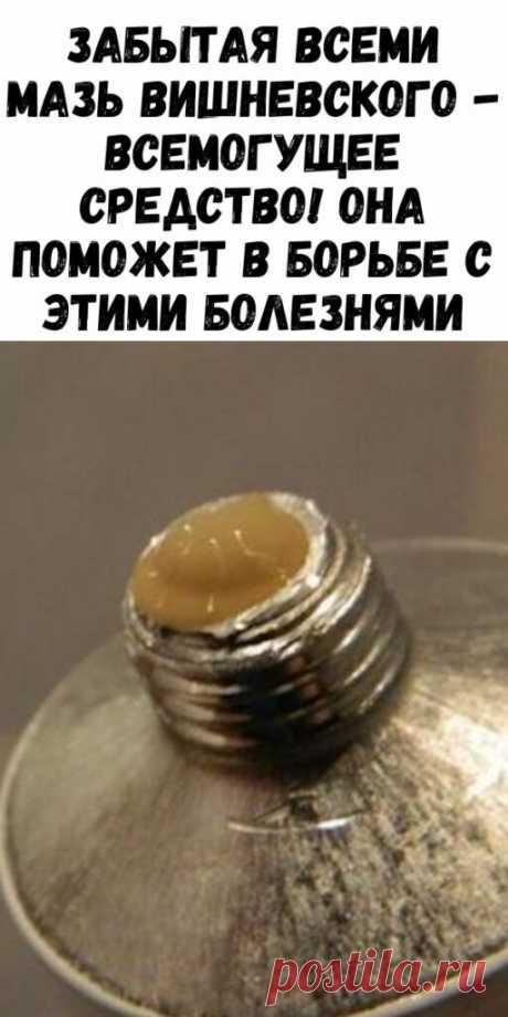 Забытая всеми мазь Вишневского - всемогущее средство! Она поможет в борьбе с этими болезнями - Упражнения и похудение