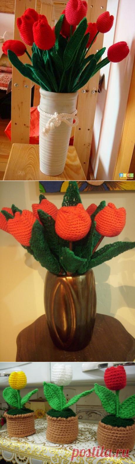 Цветы крючком. Тюльпаны