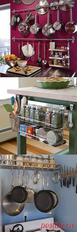 Практичные навесные полки для кухни | Идеи для кухни