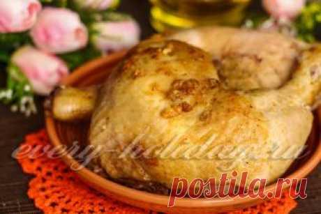 Как приготовить вкусную, сочную, золотистую курицу в фольге в духовке.
