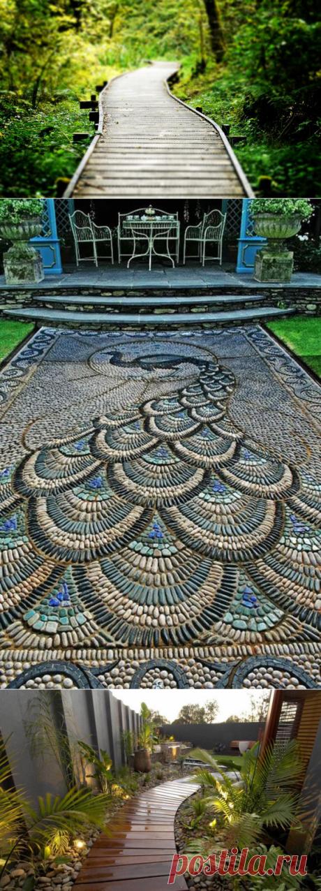 Садовые дорожки: красивые идеи и обзор материалов — Субботний Рамблер