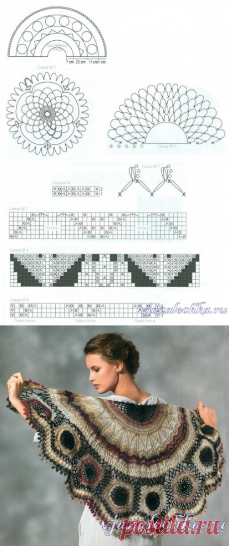 Вязание шали «Королевская»
