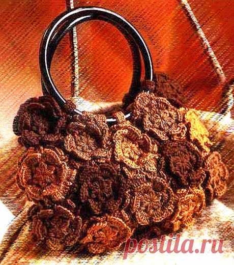 Модели сумок крючком: летняя сумка из круглых мотивов-цветов | Вязание Шапок - Модные и Новые Модели