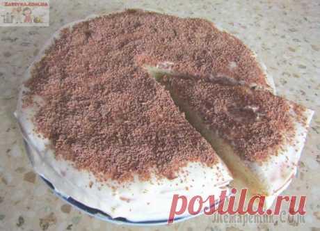 Cake on kefir with smetanny cream