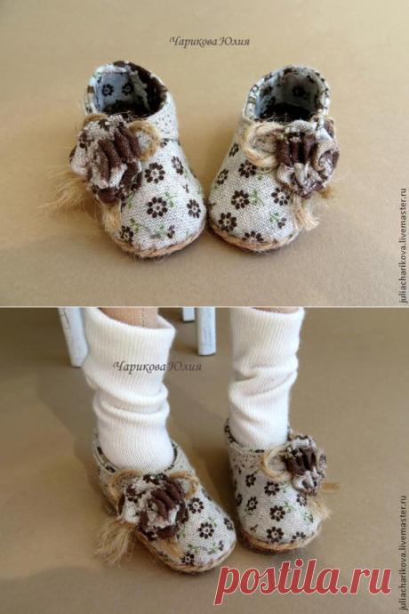 Туфли и выкройка на куклу-тильду. МК Юлии Чариковой.