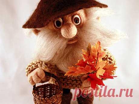 Войлочная кукла на каркасе - Ярмарка Мастеров - ручная работа, handmade