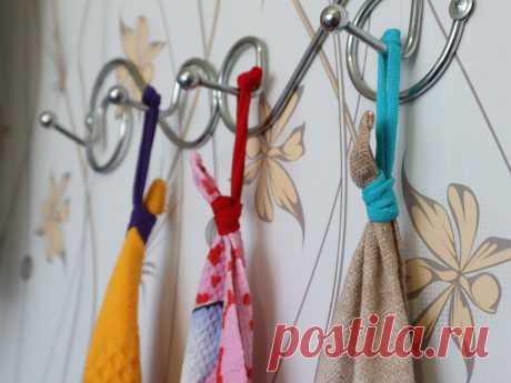 Лень было пришивать петельки на полотенца, и супруга придумала делать их съемными - из трикотажных полосок | Зоркий | Яндекс Дзен