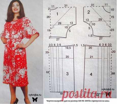 Летние платья с простыми выкройками.