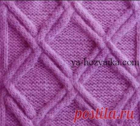 Шапка узором плетенка спицами. Как связать шапку спицами красивым узором