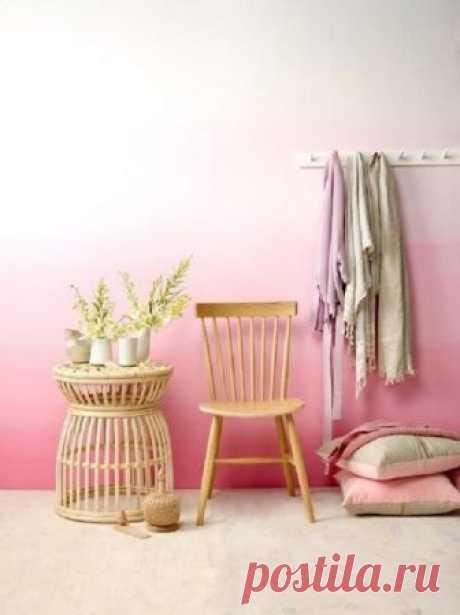Необычный способ покраски стен   Роскошь и уют
