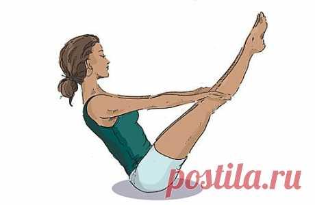 Йога: 5 простых упражнений для пресса.