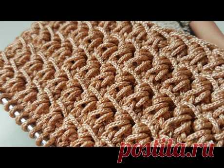 Узор из пряжи Macrame, вяжем спицами 🍂 knitting pattern.