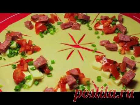 """ПИЦЦА """"СОЛНЦЕ"""" . Необычная пицца с ВОСХИТИТЕЛЬНЫМ вкусом! Рецепт."""