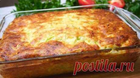 Кабачковый пирог с сыром: не успевает остыть, съедается моментально