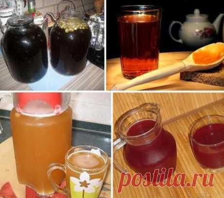 6 рецептов кваса  Ягодный квас  Ингредиенты:  - Смородина красная — 250 г - Смородина белая — 150 г - Смородина черная — 100 г - Мята (небольшой) — 1 пуч. - Вода — 3 л - Сахар — 1 стак.  Дрожжи (быстродействующие) — 0,5 ч. л.  Ягоды тщательно перебираем, моем. Разминаем толокушкой. Кипятим воду, добавляем мяту, провариваем в течение 2 минут, выключаем. Добавляем размятые ягоды, накрываем крышкой и оставляем на 10-14 часов. Процеживаем настой через два слоя марли. Добавляем...