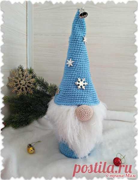 Вязаный новогодний гном - забавный декор бутылки... / Вкусные привычки