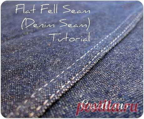 Как сделать красивый джинсовый шов.