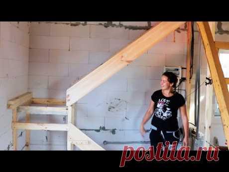⚫ Самодельная Лестница за 60$ Превзошла все ожидания! КАК построить ДЕШЕВЫЙ Дом? #19