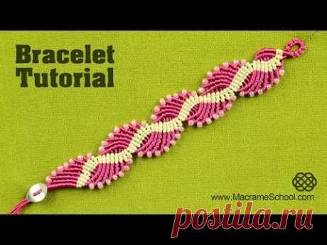 Wavy Lagoon - Macramé Bracelet Tutorial   Macrame School