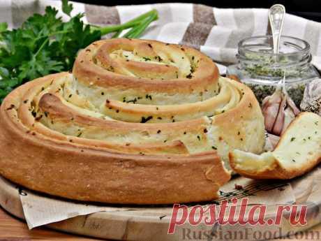 """Хлеб """"Спиральный"""" с чесноком и зеленью - получилось божественно и безумно ароматно"""