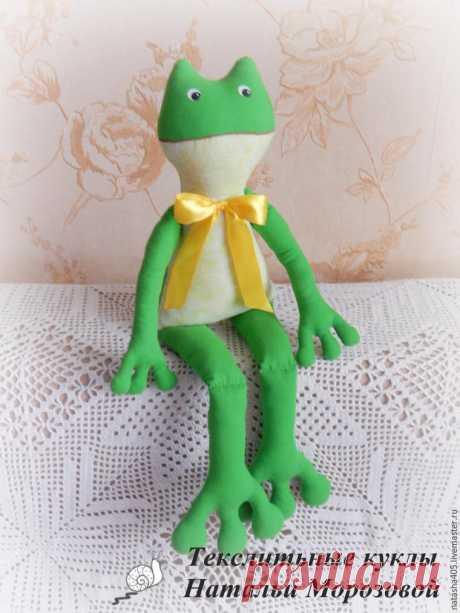 Шьем забавную лягушку – Ярмарка Мастеров